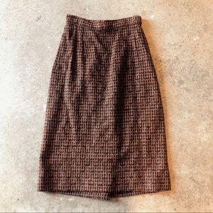 True vintage handmade 1960's tweed pencil skirt